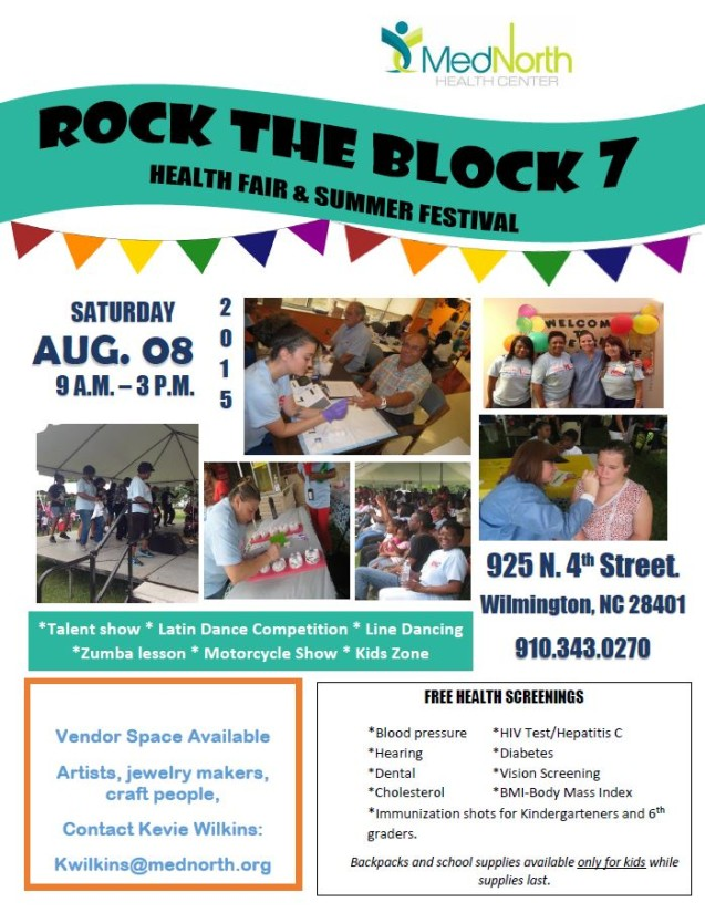 Don't miss Med North's 2015 Rock-The-Block!
