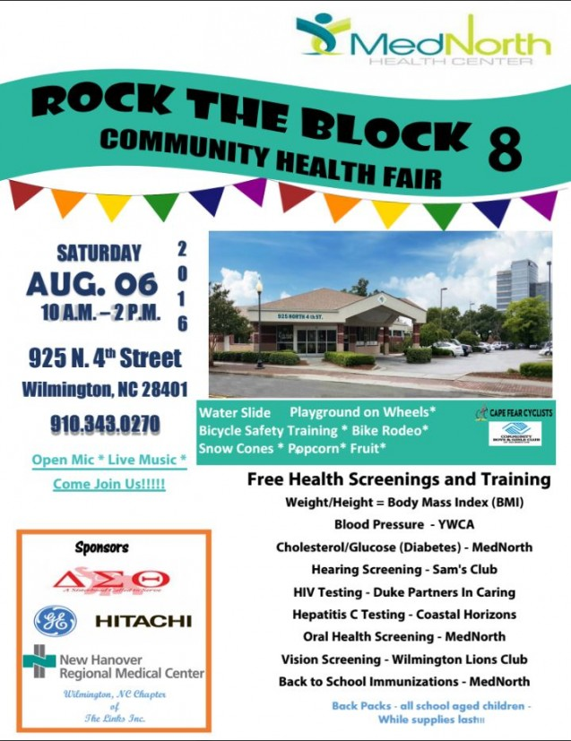 Don't Miss MedNorth Health Center's 2016 Rocks the Block Community Health Fair