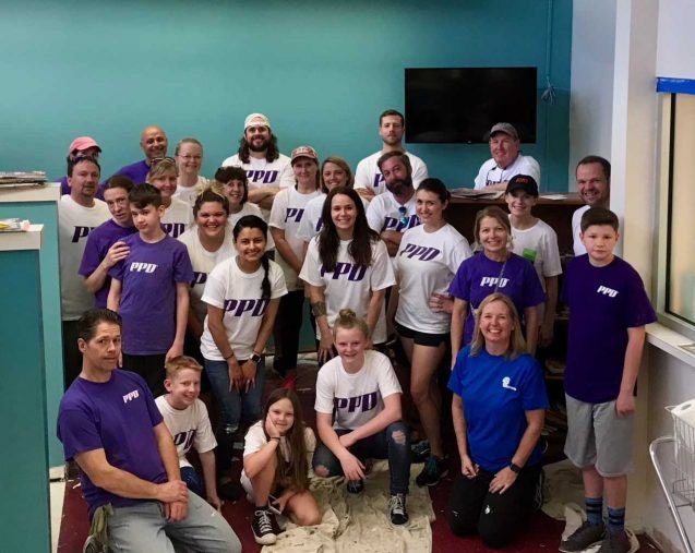 Work on Wilmington's PPD Volunteers help spruce things up at MedNorth Health Center